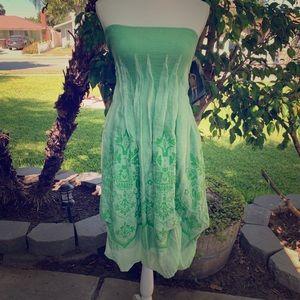 ✨💚NWT Lapis Green Strapless Boho Dress 💚✨